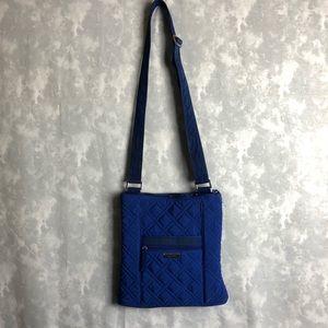 Vera Bradley solid blue cross body